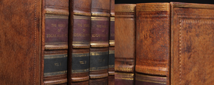 Genuine Leather Book Spines for Bookshelf