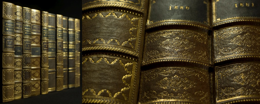 Replica Book Panels Vellum and Parchment Book Spines